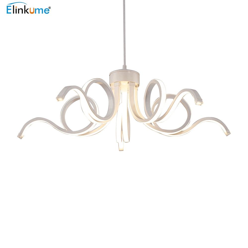 Elinkume Современные светодиодные люстры блеск Потолочная hanglamp для Гостиная Кухня лампа LED люстра крытый светильник
