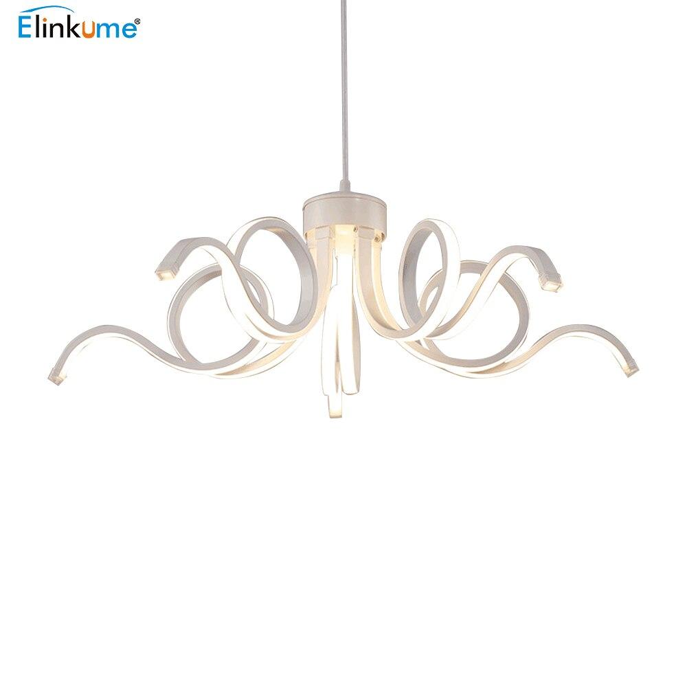 Elinkume Led Moderne Kronleuchter Glanz Decke Hanglamp Für Wohnzimmer Küche  Lampe Führte Kronleuchter Innen Leuchte | Utradioguide.com