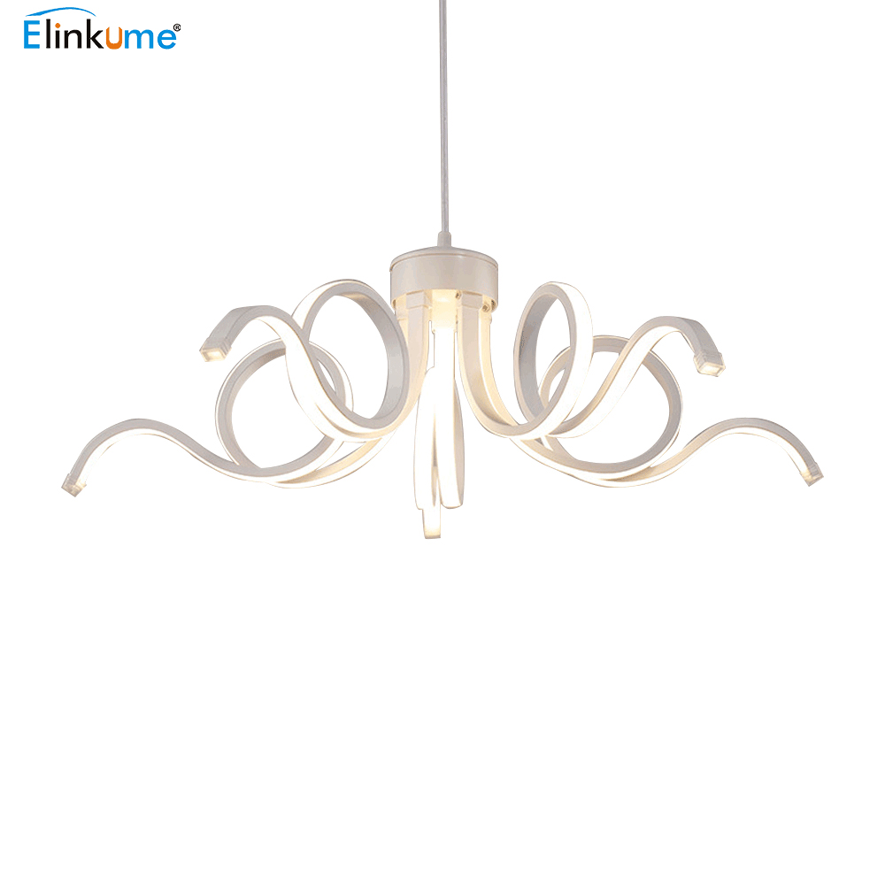 где купить Elinkume Led Modern Chandelier Lustre Crystal Ceiling Hanglamp For Living Room Kitchen Lamp Led chandelier Indoor Light Fixture по лучшей цене