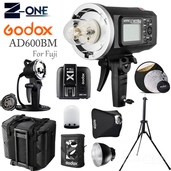 GODOX AD600BM HSS 2.4G Wireless Flash Light Speedlite+X1T-F Transmitter+AD-H600B+Draw-Bar Carry Bag+AD-S16 For Fujifilm Cameras