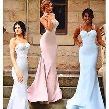 Simple Multi Color Bridesmaid Dresses Sweetheart Satin Mermaid Bridesmaid Dresses Long Back Button Sleeveless Party Dresses