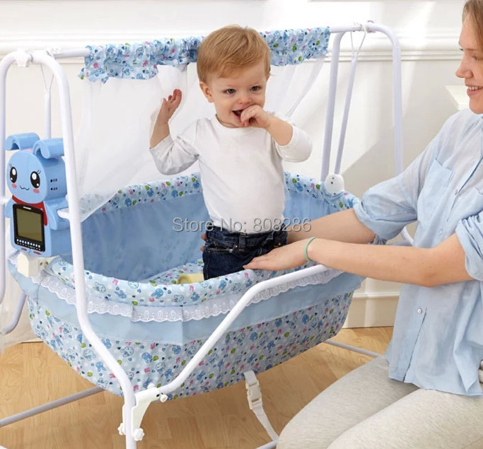 368ecc68cb829 Brand New Baby Crib Shaking Bed Bule and Pink Infant Rocking Bed Baby Cot  Pure Cotton Cheap Price-in Baby Cribs from Mother   Kids on Aliexpress.com  ...