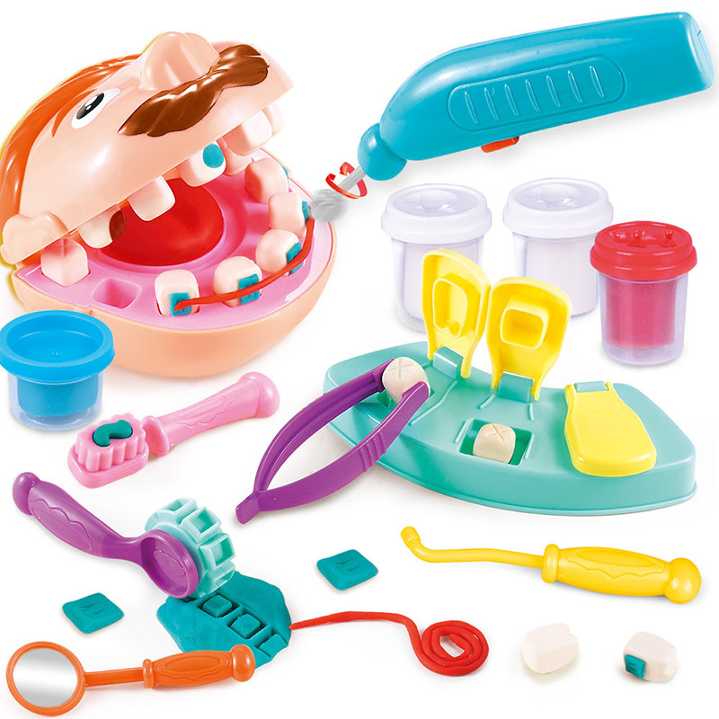 Doctor Toys For Children Pretend Play Toy Dentist Check Teeth Model Set Medical Kit Role Play Simulation Early Learning Toys