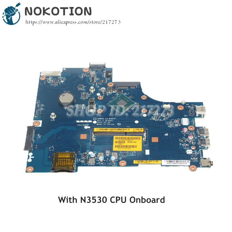 NOKOTION NEW CN-0Y3PXH 0Y3PXH MAIN BOARD For Dell inspiron 15 3531 Laptop Motherboard ZBW00 LA-B481P N3530 CPU Onboard DDR3 free shipping laptop motherboard for 3531 028v9w la b481p n2830 cpu