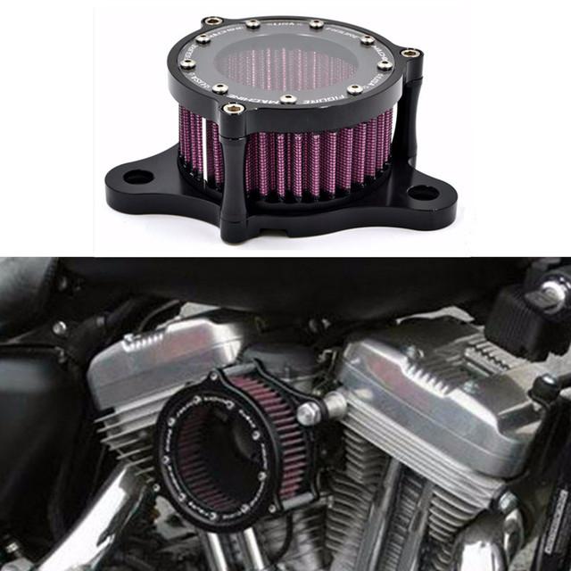 2016 Nuevo Sistema de Filtro de Aire de Admisión Universal CNC de Aluminio de La Motocicleta para 2004-2016 Harley Davidson Sportster XL 883/1200