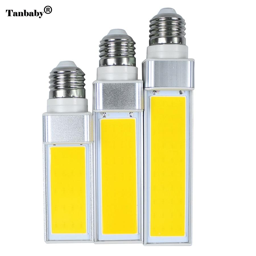 TanbabyLampada E27 10W 12W 15W COB LED Corn Light AC85V-265V Horizontal Plug lamp Bombillas LED PL Corn Bulb Spot light CE RoHS