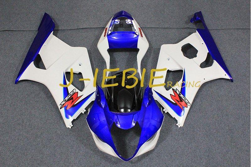 Bleu blanc Injection Carénage Body Work Cadre Kit pour SUZUKI GSXR 1000 GSXR1000 K3 2003 2004