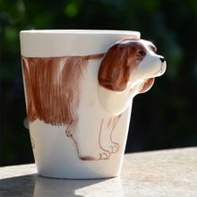 High Quality 3D Hand Drawn Cute Pet Dog Printed Design Ceramic Mugs Creative Gifts Mugs
