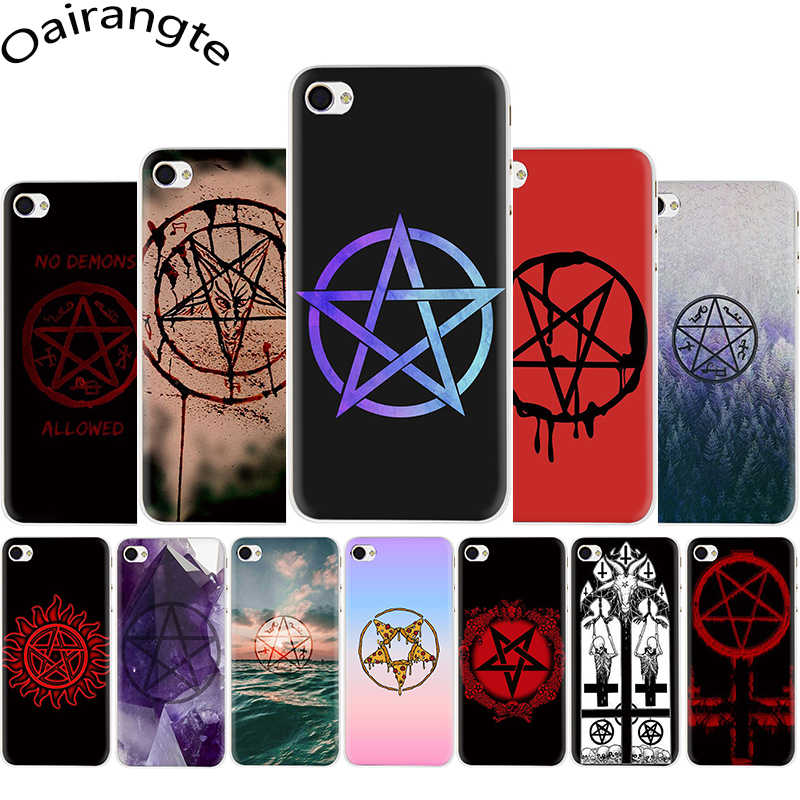 Satanic Pentagram Hard Phone Cover Case for iphone 5 5s SE 5C 6 6s 7 8 Plus X XR XS Max 11 Pro Max