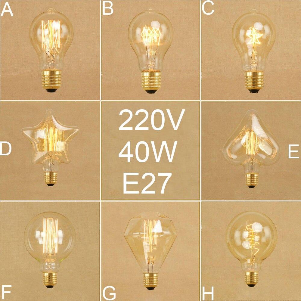 Garten & Terrasse Edison Vintage Glühbirne,led Lampe Warmweiß E27 Retro Antike Außenstrahler & Flutlichter 6 Stück