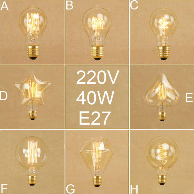 Vintage Edison Bulbs A19 G95 Diamond Squirrel Incandescent Bulbs Retro Five star Heart Spiral 40W Filament  sc 1 st  AliExpress.com & Vintage Edison Bulbs A19 G95 Diamond Squirrel Incandescent Bulbs ...