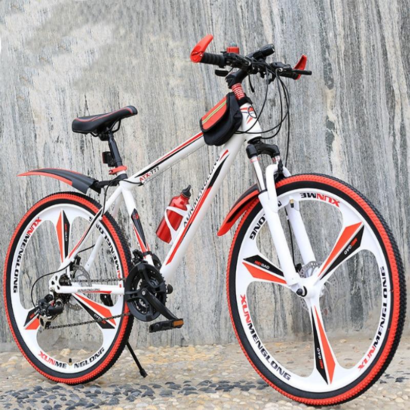 Mountain Bike Bicycle Adult Teenager One-wheel Shifting Damping Double Disc Brake Male And Female Student Mountain Biking