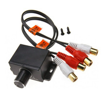 Car Amplifier Volume Adjuster / Potentiometer RCA Female Input And Output 2RCA Male And Female 2pcs lot it8987e management computer input and output the start up circuit of input and output