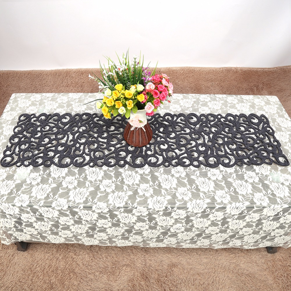 Hollow Out Table Runner Formal Party Wedding Table Decoration Dining  Placemats Table Cover TV Cabinet Cover Cloths Cup Mats In Table Runners  From Home ...