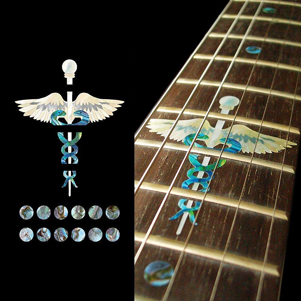 где купить  Fretboard Markers Inlay Sticker Decals for Guitar - Caduceus (Symbol of Medicine)  по лучшей цене