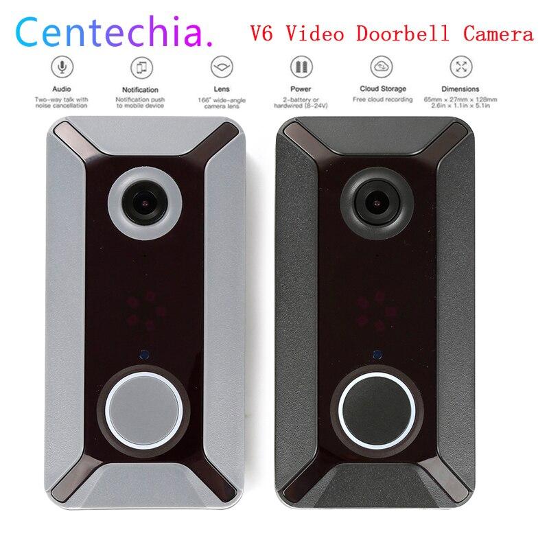 V6 WIFI Doorbell Smart IP Video Intercom 720P Video Door Phone Door Bell Camera For Apartments IR Alarm Wireless Security Camera