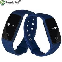 Сердечного ритма Мониторы Фитнес трекер Смарт Браслет Bluetooth Приборы для измерения артериального давления Спорт умный Браслет для Android IOS Телефон ID107