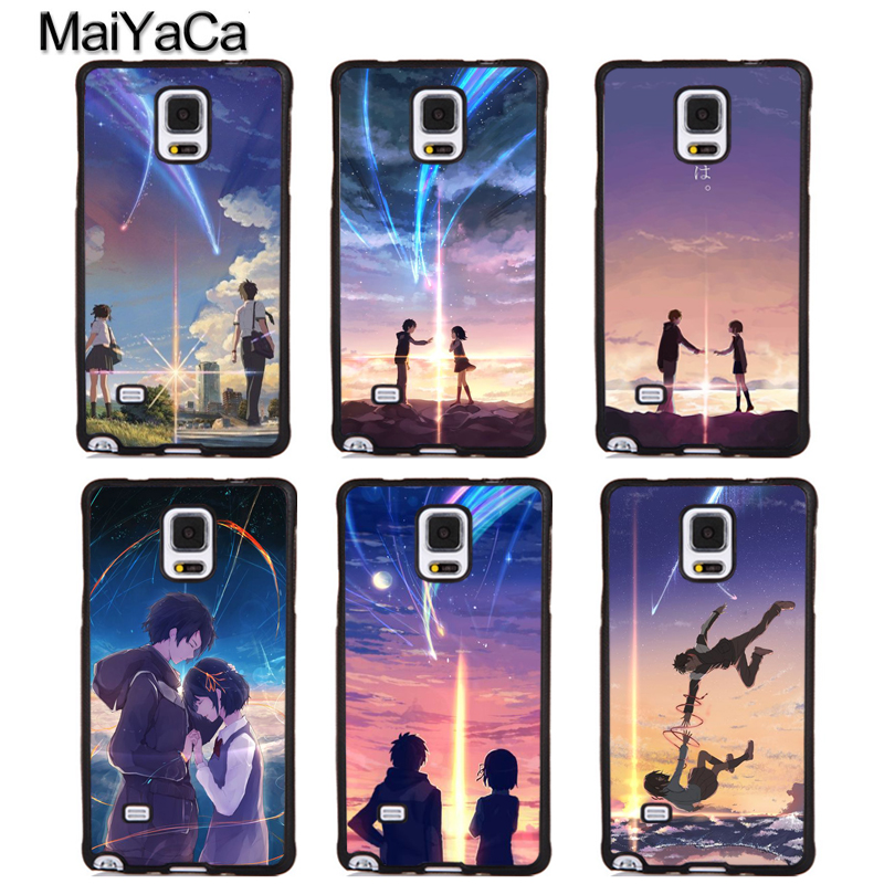 MaiYaCa Your Name Kimi no Na wa Full Protective Phone Cases For Samsung Galaxy S5 S6 S7 edge Plus S8 S9 plus Note 3 4 5 8 Cover