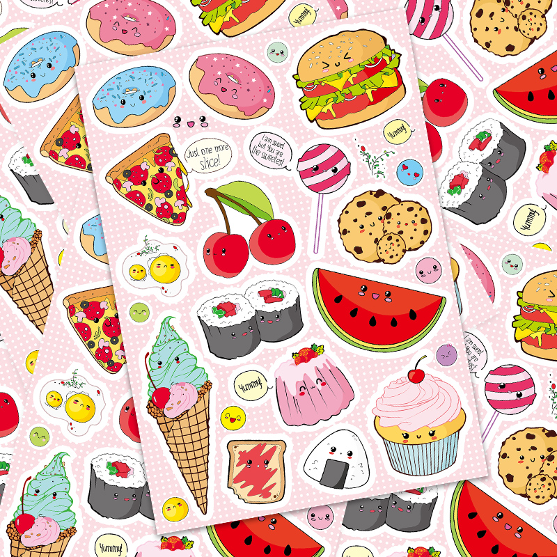 15 Pcs Suitcase Sticker Cartoon Cute Fruit Suitcase Stickers Laptop Guitar Trolley Case Stickers