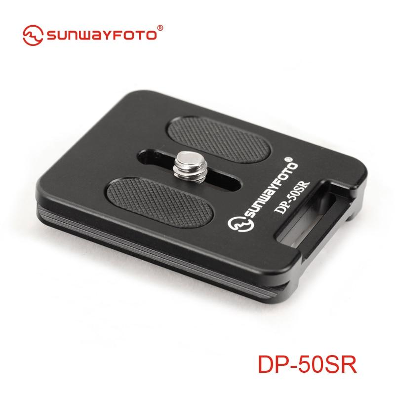 SUNWAYFOTO DP-50SR Tripod Monopod Head Quick Release Plate for DSLR Camera Professional Aluminum Univeral Quick Release Plate