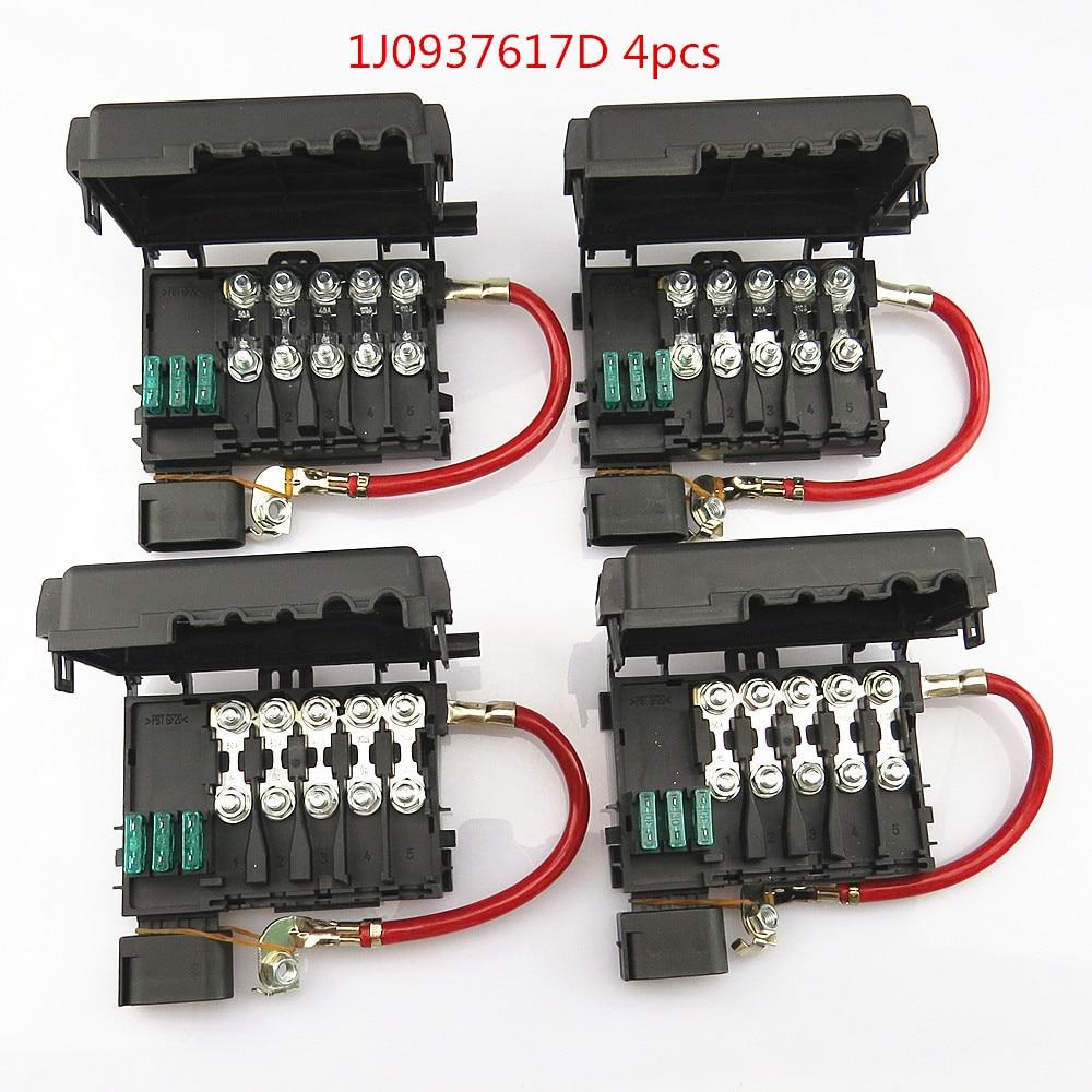 jetta battery fuse box               scjyrxs 4pcs car battery fuse box assembly 1j0937617d 1j0  car battery fuse box assembly
