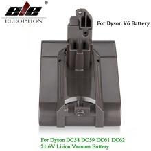 V6 21,6 V 3000 mAh Li-Ion Батарея для Dyson V6 Батарея для DC58 DC59 DC61 DC62 пылесос SV09 SV07 SV03 SV04 SV06 SV05