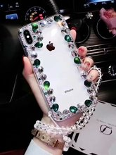 XINGDUO Bling Lovely Crystal Diamond Rhinestone Phone Case For Samsung Note 8 9 S10 S8 S9 Plus M10 20 Transparent fashion shell