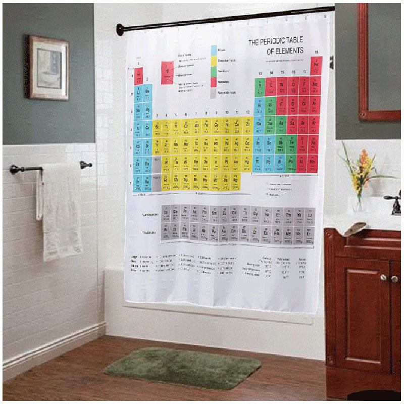 Aliexpress buy new periodic table of elements bathroom aliexpress buy new periodic table of elements bathroom curtains waterproof 3d print shower curtain white fabric curtain for the bath 12 hooks from urtaz Choice Image