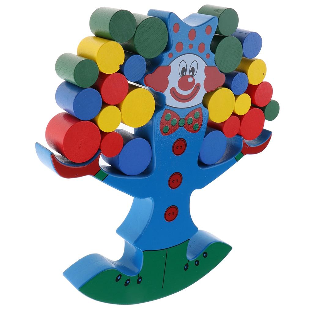 Clown bloc empiler jeu d'équilibrage en bois jouet de développement pour bébé enfants garçons filles jeu amusant