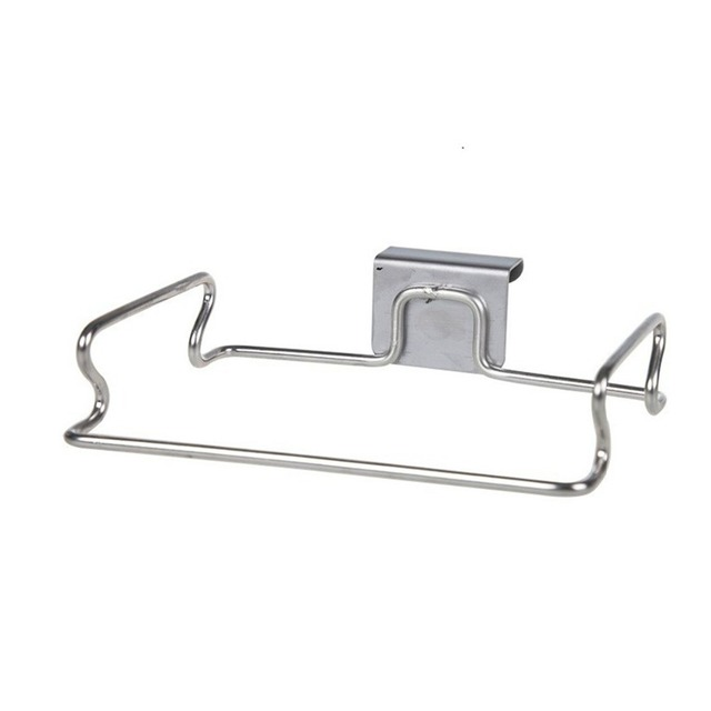Stainless steel table door wall trash bag holder storage organizer rack holders racks for kitchen bathroom bath towel storage