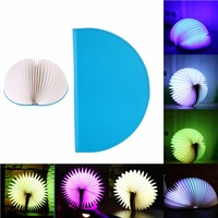 Foldable LED Book Lamps USB Rechargeable Nightlight Booklights For Decor Desk Table Wall Magnetic Lamp With