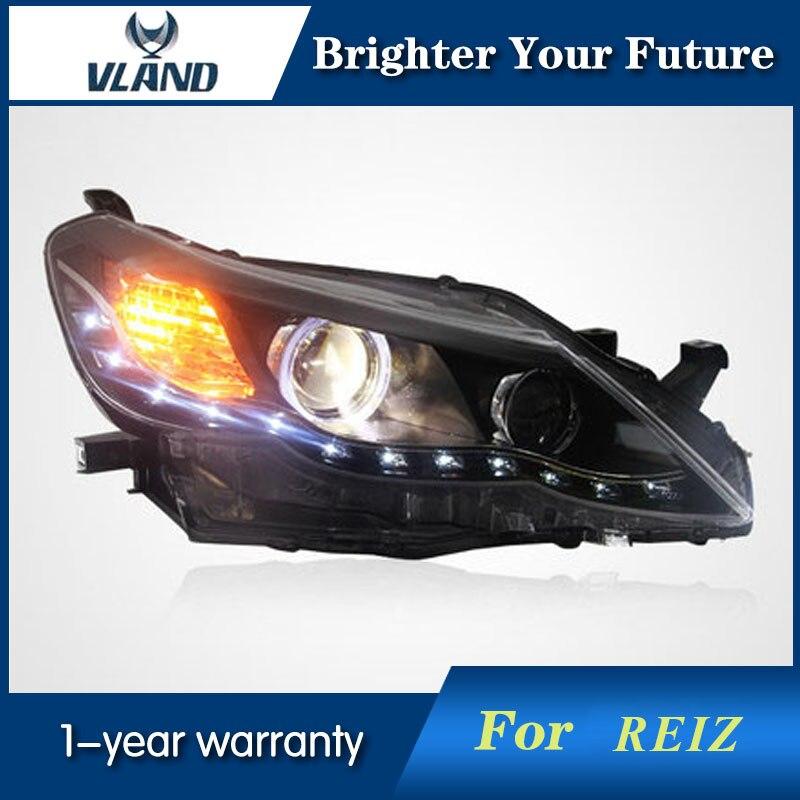 Vland angel eyes H7 Xenon lamp for Toyota Reiz 2011 2012 LED headlights assembly