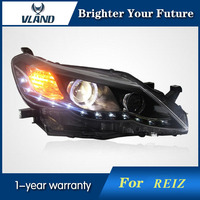 Vland angel eyes H7 Xenon lamp for Toyota Reiz 2011 2012 LED headlights assembly