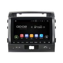 "9 ""octa-core Android 6.0 Botón Táctil Reproductor Multimedia Del Coche Para Toyota Lander Cruiser 2008-2012 Vídeo Audio Estéreo Reproductor de DVD"