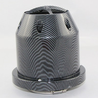 Hot 2015 Car High Flow Auto Carbon Fiber 75mm Intake Black Air Filter Cleaner high quality free shipping