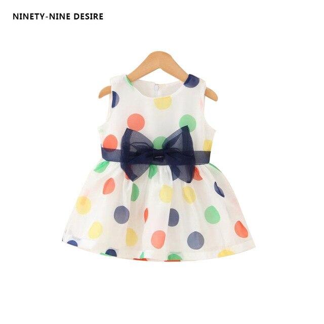 f75e8dd6bc18 2018 Baby Girls Dress Summer Baby Bow Chiffon Dress Infant ...