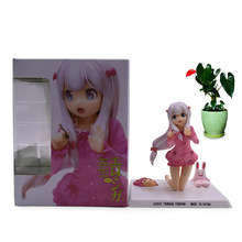 лучшая цена Anime Eromanga Sensei Sagiri Izumi Sweet Ver PVC Action Figure Doll Collectible Model Toy Christmas Gift For Children 12 cm