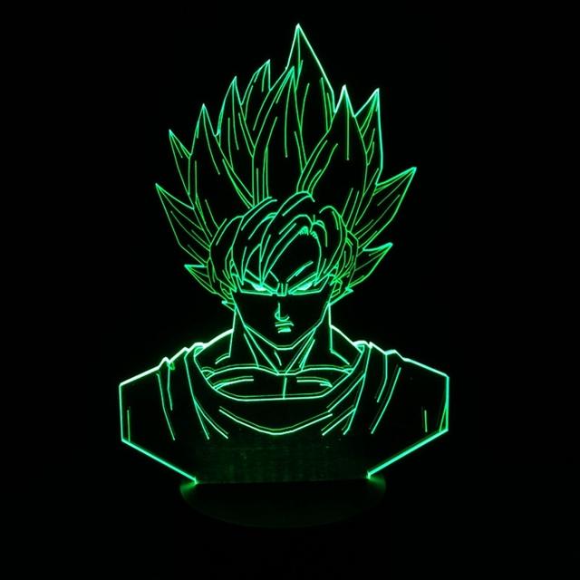 Lampe Dragonball Dragon Ball Noche LED Lámpara de Luz Lampara Hijo Goku Decoración Del Hogar Llevó La Lámpara Para Niños Juguetes de Navidad Año Nuevo regalos