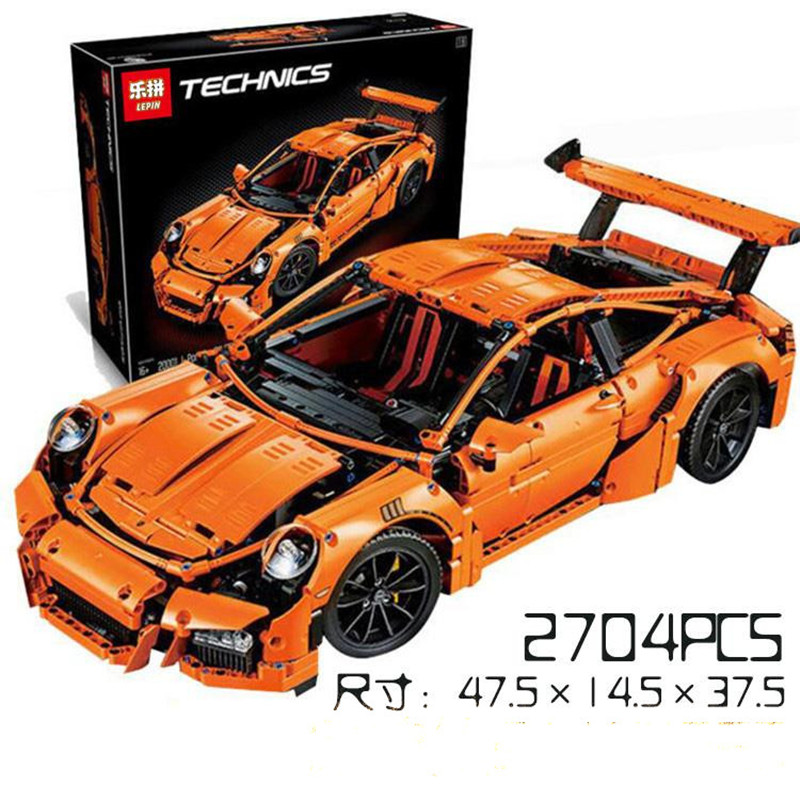 LEPIN 20001 Technic Series  Car Model Building Kits figures Blocks Bricks Compatible With 42056 Boys Gift lepin 20005 2793pcs technic series model building block bricks compatible with boys toy gift compatible legoed 42023