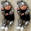 Inverno Infantil Do Bebê Dos Miúdos Da Menina do Menino Roupas Define Conjuntos de Roupas Traje Do Bebê Recém-nascido Da Criança Outfits Pijama Bebes Desgaste Ternos Do Esporte