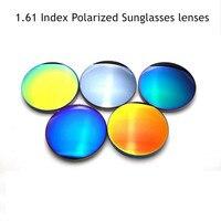 Vazrobe Asférica 1.61 Índice Personalizado Gafas de Lentes Polarizadas gafas de Sol de Recubrimiento Calidad CR-39 Lentes de Espejo Anti Polares UV400