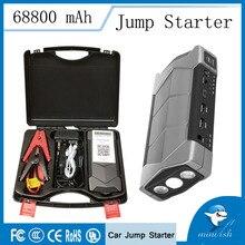 Новая модель Лидер продаж minifish 68800 мАч multi Функция автомобиля Пусковые устройства Портативный автомобиля Батарея Зарядное устройство