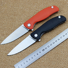 лучшая цена 2018Convenient wavy pattern folding knife D2 blade G10 handle high quality outdoor camping hunting tactical knife EDC hand tools