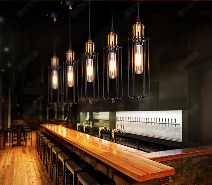 Nordic Industrial creative personality retro loft American rural Bar cafe restaurant small balcony Gladiator chandelier lamp nordic american country retro industrial loft restaurant bar creative personality living room small metal frame lamp chandelier