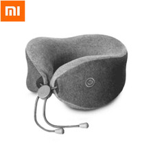 Xiaomi Multi-function Soft and Comfortable U-shaped Massage Neck Pillow Double Interior Bedsit Pillow(China)