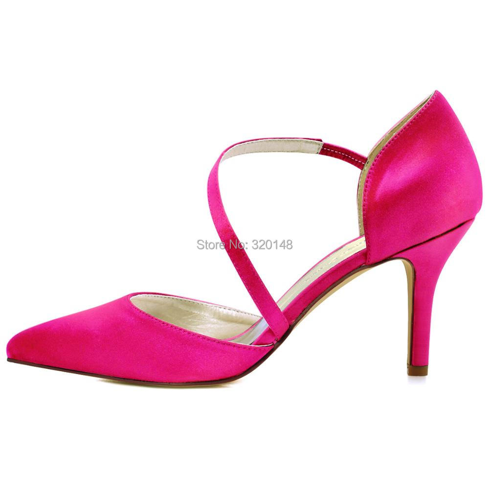 Aliexpress.com : Buy HC1711 Shoes Woman Wedding Bridal Hot Pink ...