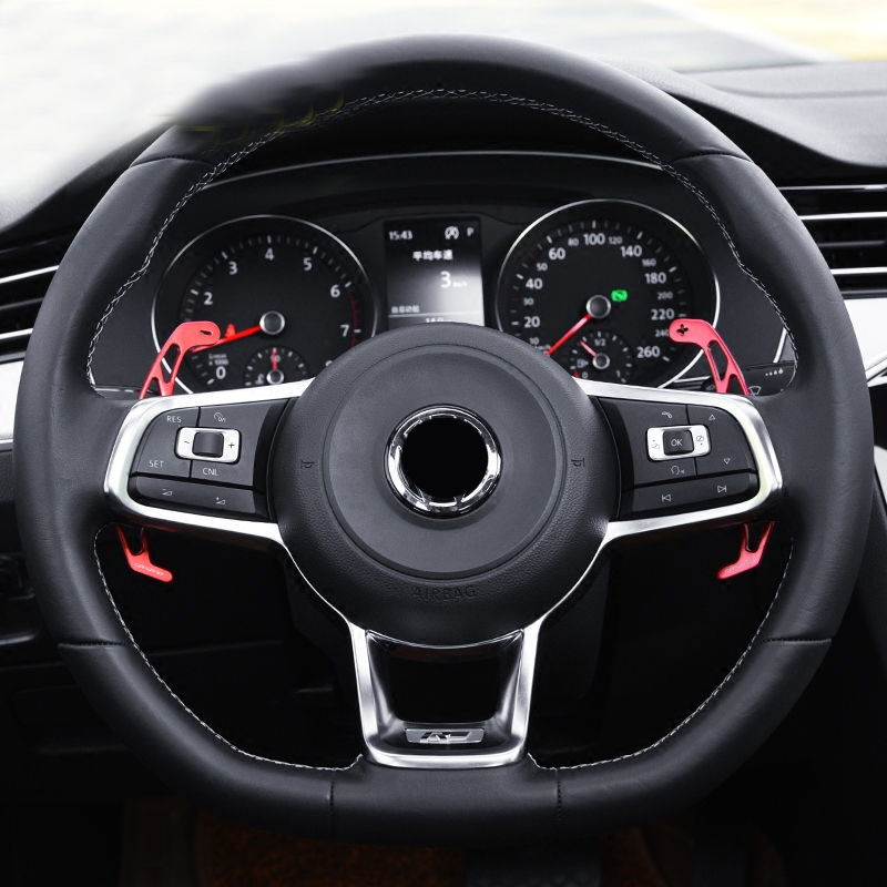 Steering wheel shift paddles for VW Tiguan MK2 R line/GOLF GTI MK7 / GOLF R MK7 / GOLF GTD MK7 / GOLF GTE/passat B8 R line наклейки hong 50 5 8 4 vw golf mk7 stikers