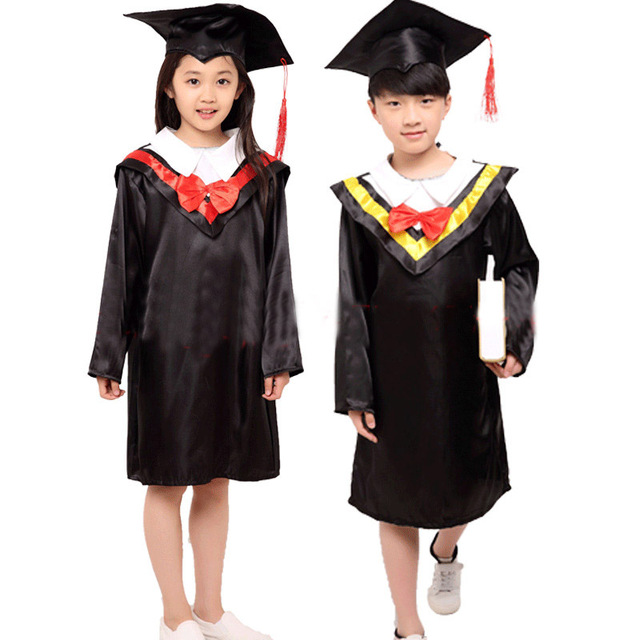 Dr Children take graduation gown Little doctor in our service boy ...