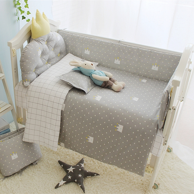 Little Prince Baby Boy Bedding Crib Set Infant Protector Pers In