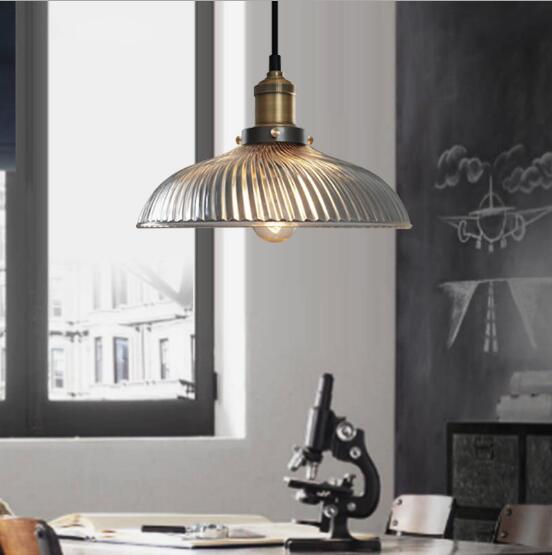 Glass American style Retro Pendant Light Bar Light Bedroom Dining Room Balcony Corridor Living Room Fashion Retro Lamp led Bulb country rustic crystal dining room pendant light glass balcony hallway hanging lamp retro metal corridor restaurant pendant lamp